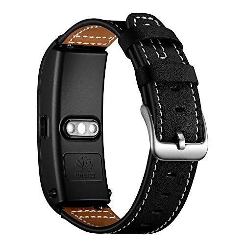 AISPORTS Correa de reloj de liberación rápida de 18 mm compatible con Garmin Vivomove 3S/Vivoactive 4S Correa de piel para mujeres y hombres, correa de repuesto para Huawei Talkband B5