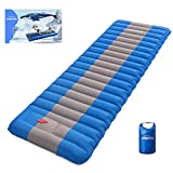 Overmont Extra 4.7in Thickness Sleeping Pad 27in Width Inflatable Camping Mat Ultimate Air Mattress Built-in Pump Waterproof for Hiking Road Trip