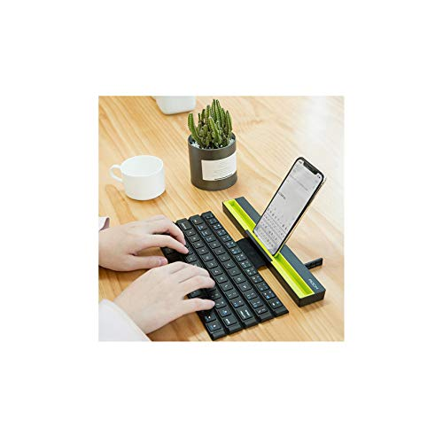 LORIEL Foldable Wireless Bluetooth Keyboard, Reel Design, Wireless Distance of 10 Meters, Suitable for Mobile Phones, Tablets, Notebooks, PC Computers (With Bluetooth)