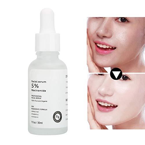 Siero viso naturale alla niacinamide 5% - idratante anti-età. Riduce la comparsa di acne, brufoli, rughe, segni di espressione, scolorimento e iperpigmentazione - 30 ml