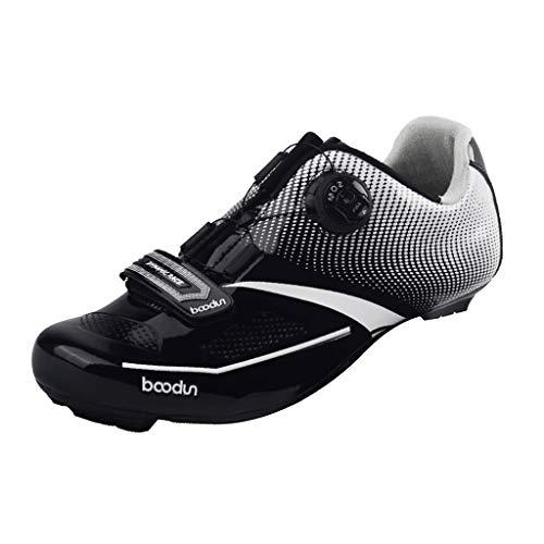 F Fityle 1 Par de Zapatillas de Ciclismo de Carretera para Hombre...