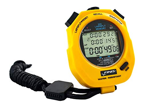 FINIS Stopwatch 3x 300m, yellow, one size