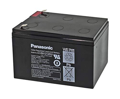 WSB Battery Batería de plomo 12 V 12 Ah LC-RN1212PG1 con autorización VDs Faston 6,3, idéntica a LC-RA1212PG1 AGM de alto rendimiento