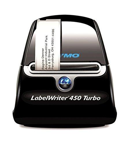 DYMO LabelWriter 450 Turbo Hochleistungs Schneller Beschriftungsgerät | Professioneller thermischer Etikettendrucker | Drucken Sie bis zu 71 Etiketten pro Minute