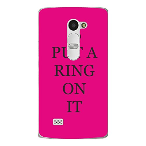 'Disagu Design Case Cover Shell voor LG Leon LTE Cover – motief PUT A RING ON IT