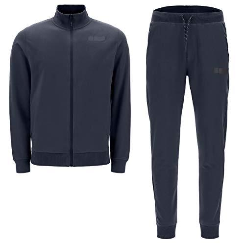 FREDDY Tuta da Uomo con Felpa a Collo Alto e Pantalone Slim Fit - Blu Navy - Extra Large