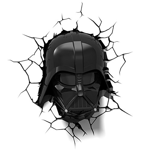 3D Light FX Lampada Led 3Dlightfx - Star Wars Ep7 Darth Vader Face con Timer Lámpara 3D SW, Multicolor, 27 x 14.5 x 32 cm