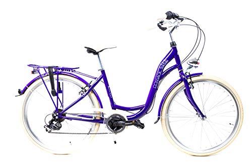 26 Zoll City Fahrrad Damen Bike Shimano 6 Gang Gepäckträger Gelsattel RH 44cm