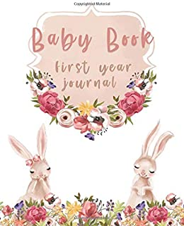 Baby Book First Year Journal: Modern Memory Book for Baby