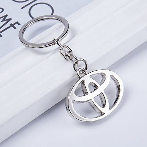 Double Sided Zinc Alloy Metal Keyring Logo Car Keychain with Gift Box VILLSION 3D Car Key Chain Accessories with Shining Crystal