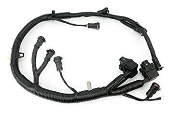 FICM Engine Fuel Injector Complete Wire Harness - Replaces Part 5C3Z9D930A 5C3Z-9D930-A - Compatible with Ford Vehicles F250 F350 F450 F550 - Powerstroke 6.0L Diesel - 2003-2007