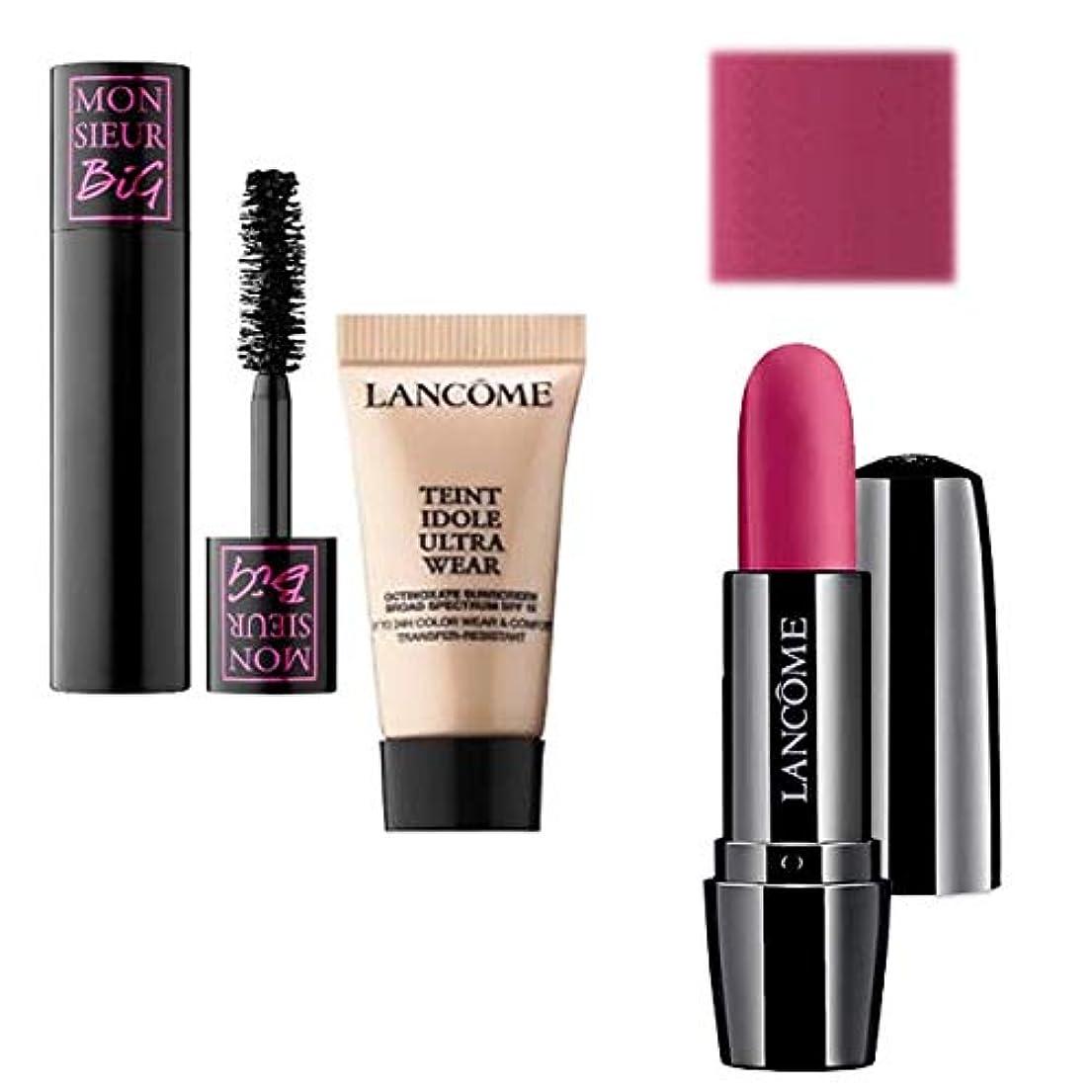 実行バースサイレンランコム(LANCOME), Full Size Lipstick(Sought After) & Mini ミニ 2set (Mascara & Foundation) [海外直送品] [並行輸入品]