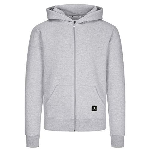 urban ace | Zip Hoodie, Sweatjacke, Pullover-Jacke | Herren, Unisex | für Fitness und Freizeit | grau oder schwarz | weich, mit hochwertiger Verarbeitung | S, M, L, XL (grau, L)