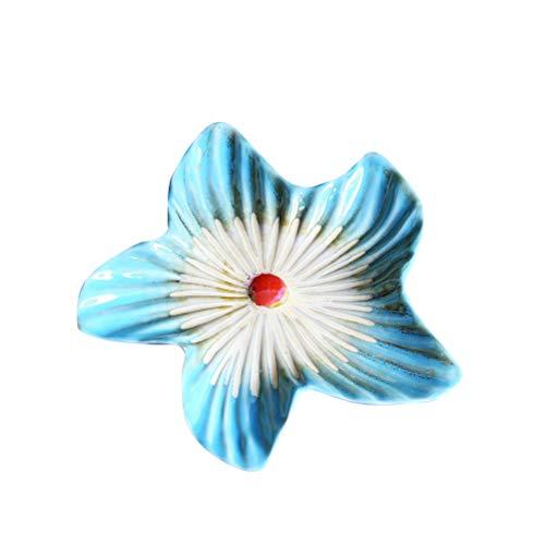 LIOOBO Cerámica de la vendimia plato de plato de fruta estrella de mar decoración náutica adorno jabonera bandeja esponja titular placa de la joyería