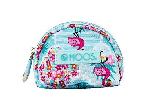 Moos Flamingo officiële portemonnee, 95 x 30 x 80 mm, turquoise