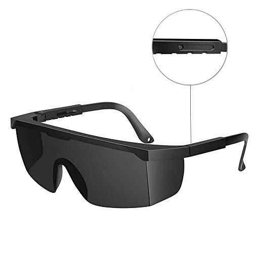 H&L Laserschutzbrille Lichtschutzbrille für HPL IPL Haarentfernung, Einstellbar IPL Haarentfernungsgerät Brille Abgedeckt von 200 zu 3000 Nanometern, Schwarz