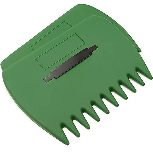 GUSTARIA Garden and Yard Leaf Scoops Hand Rakes, Large Sized, Multiple Use for Leaves, Lawn Debris and Trash Pick Up.
