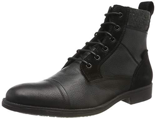 Geox Herren U JAYLON J Klassische Stiefel, Schwarz (Black C9999), 43 EU