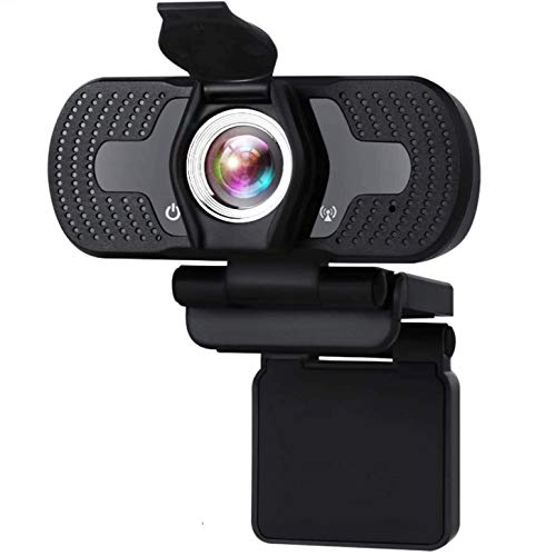 Aode Webcam with Microphone for PC Windows 10 HD 1080P Web Cam with Cover Streaming Video Webcams Plug and Play USB Camera for Computers Laptop Desktop for YouTube Compatible with Windows 7/8/10/XP