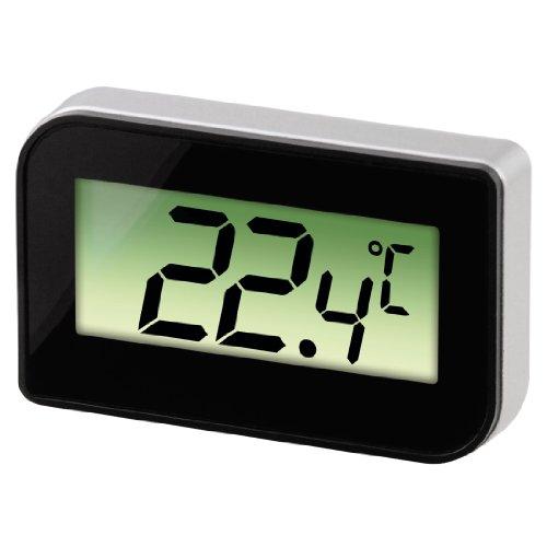 Hama Xavax Thermomètre numérique pour réfrigérateurs/congélateurs (pour installation, suspendu ou magnétique, pour réfrigérateu/congélateur, minimum -30 degrés, maximum 70 degrés) Noir/Argent