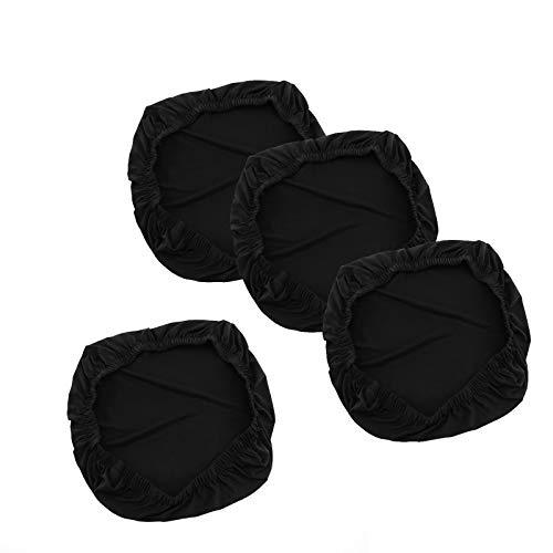 Fundas de asiento y protectores de asiento suaves, elásticos y extraíbles, lavables a máquina, color negro