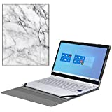 Fintie Sleeve Case for 13.3' Samsung Galaxy Book Flex Alpha 13 NP730QCJ/Galaxy Book S/Galaxy Book Ion 13 NP930XCJ - PU Leather Portfolio Book Cover Compatible with ASUS ZenBook 13 UX325JA, MarbleWhite