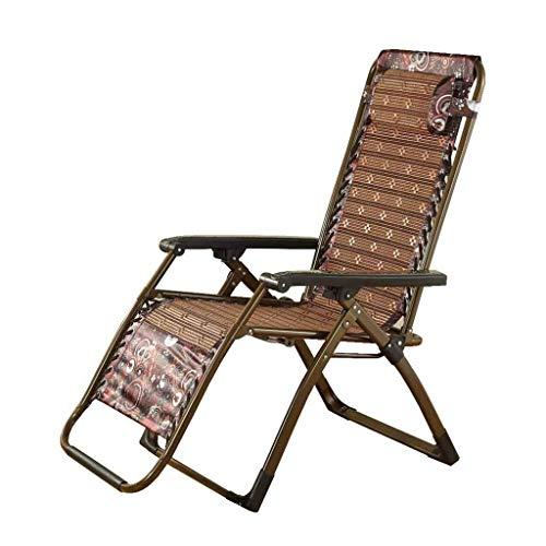 Qiutianchen Zero Gravity Silla reclinable plegable tumbonas ajustables sillas de salón portátiles para descanso de almuerzo de seda de hielo verano