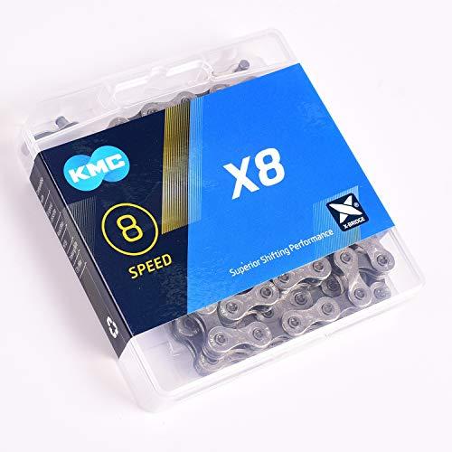 KMC 2019 X8.93 X8 - Cadena de ciclismo (1/2 x 11/128, 8 velocidades, 116 eslabones)