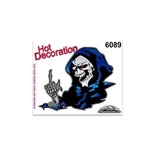 Grim Reaper Sticker Tafel 10 x 12 cm