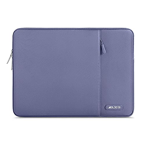 MOSISO Laptop Sleeve Hülle Kompatibel mit 13-13,3 Zoll MacBook Pro, MacBook Air, Notebook Computer, Polyester Vertikale Stil Laptoptasche, Lavendel Grau