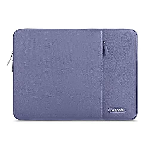 MOSISO Funda Protectora Compatible con MacBook Air 13-13.3 Pulgadas/MacBook Pro/Ordenador Portátil, Bolsa Blanda de Estilo Vertical,Gris Lavanda