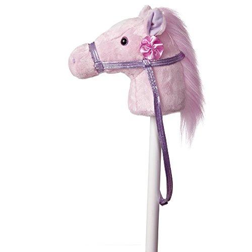 AURORA 2421 World Giddy Up Fantasy Pony Hobby Horse Plush Toy (Pink/Purple)
