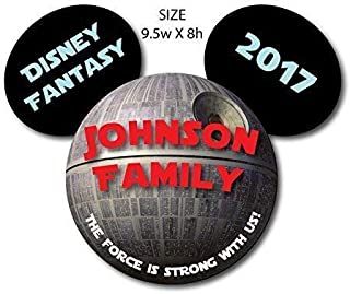 HANDMADE Disney Inspired Star Wars Death Star Family Magnet for Disney Cruise