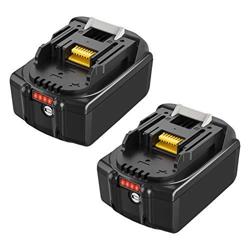 Boetpcr 2X 18V Batería de repuesto para BL1860B BL1850B BL1860 BL1850 BL1840 BL1845 BL1835 BL1830 BL1815 LXT-400 con indicador