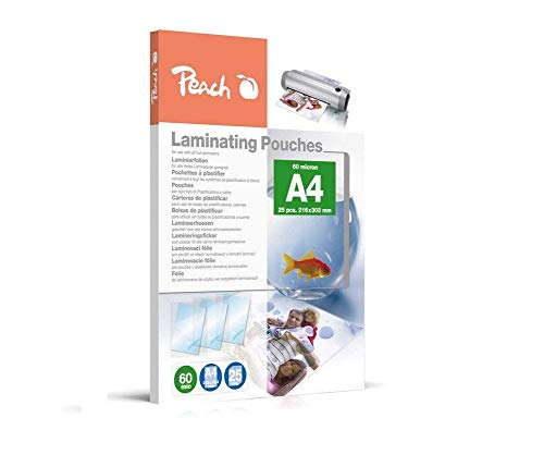 Peach PPR060-02 Laminierfolien A4, 60 mic, 25 Stück