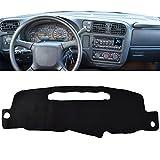 Apto para Chevrolet S10 Pickup Blazer Mini 1998-2004, cubiertas interiores para salpicadero, cubierta antideslizante para salpicadero