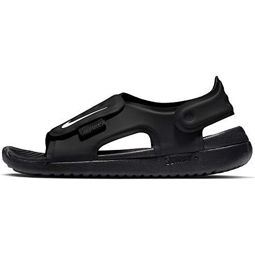 Nike Little/Big Kids' Sunray Adjust 5 Sandal Black/White, Size 6 M US Big Kid