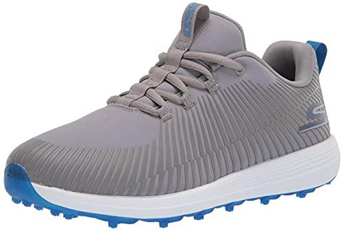 Skechers GO Golf Herren Max Golfschuh, Grau/Blau Bolt, 41.5 EU