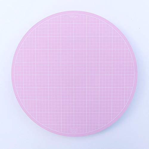 Sue Daley Designs Pink 10  Rotating Cutting Mat EPP English Paper Piecing Patchwork Sewing Quilting self Healing
