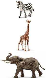 Schleich Realistic Wild Animals Replica Toys Set of 3