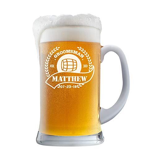 PersonalizedBeer Glass - Custom Beer Mug, Pint Glass, Pilsner Glass   Add your own Engraved Text (Beer Mug 16oz)
