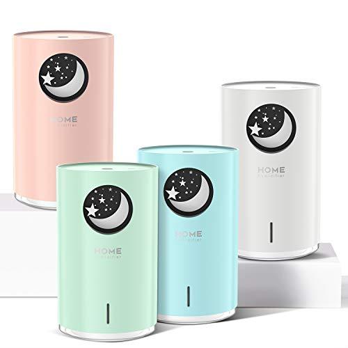 POVO 700ml Difusor Aceites Esenciales para Aromaterapia, Diufusor de Aromas Humidificadores Bebé niebla fría con Apagado Automático sin Agua Luz Nocturna de 7 Colores sin BPA (Verde Pálido)