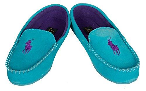 Polo Ralph Lauren Pantoufle femme homewear article DESMOND MOC, 991712 Turquoise, USA 6.5 - UK 4 - EUR 37 - CM 23.5