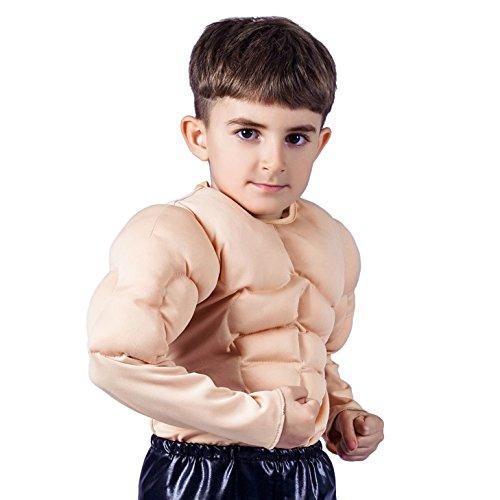 SEA HARE Kind-Jungen-Muskel-Kostüm (L :10-12 Jahre)