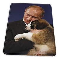Putin cute dog プーチン マウスパッド厚いコンピュータキーボードマウスパッドゲームマウスマットは マウスパッド、テーブルマット、デスク、ラップトップパッド、マウスパッド、オフィスおよび家庭用防水デスクパッド、マウスパッド