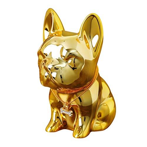 Huchas Infantil Adulto Resina Alcancía Animal Tanque De Almacenamiento Niños Adultos Forma De Cachorro Escritorio Dinero Tarro (Color : Gold)