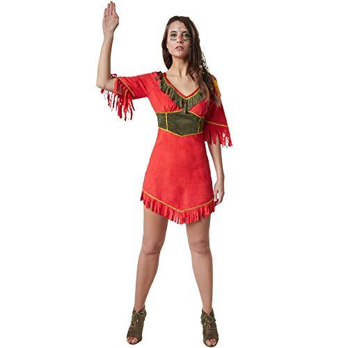 dressforfun 900520 - Damenkostüm schöne Mohikanerin, Indianisches Kurzkleid in Wildlederoptik (XXL | Nr. 302602)