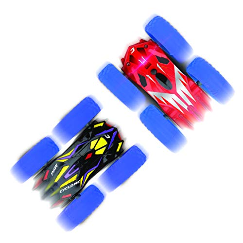 Power Your Fun Cyclone Mini RC Car for Kids - Double Sided...