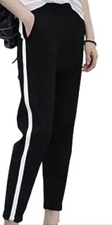 [レッドレイ] レギンス サイドライン パンツ 黒 レディース