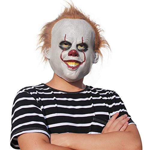 Halloween Kostüm Clown Latex Requisiten Back Spirit Clown Maske Nachtkönig Cosplay,Photocolor